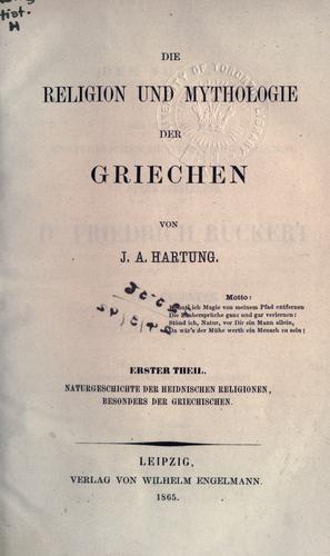 Download Die Religion und Mythologie der Griechen.