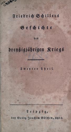 Geschichte des dreyszigjährigen Kriegs.
