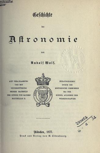 Download Geschichte der Astronomie