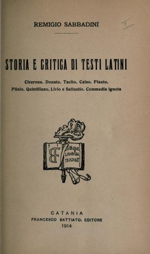 Download Storia e critica di testi latini