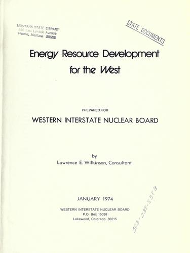 Energy resource development for the West