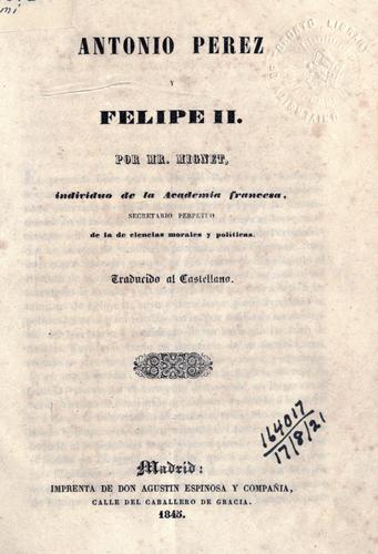 Download Antonio Perez y Felipe II