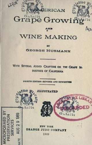 Download American grape growing and wine making