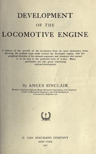 Download Development of the locomotive engine