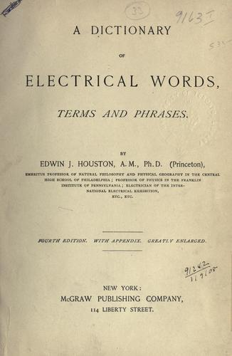 Download A dictionary of electrical words, terms and phrases.