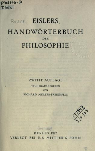 Handwörterbuch der Philosophie
