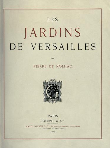 Download Les jardins de Versailles.