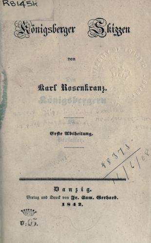 Königsberger Skizzen.