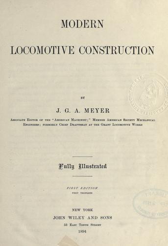 Modern locomotive construction.
