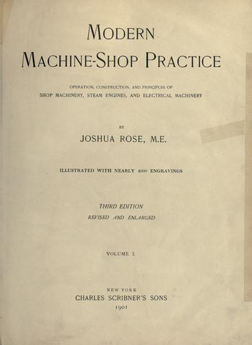 Modern machine-shop practice