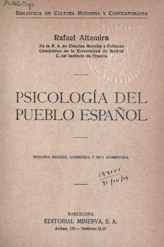 Download Psicología del pueblo español.