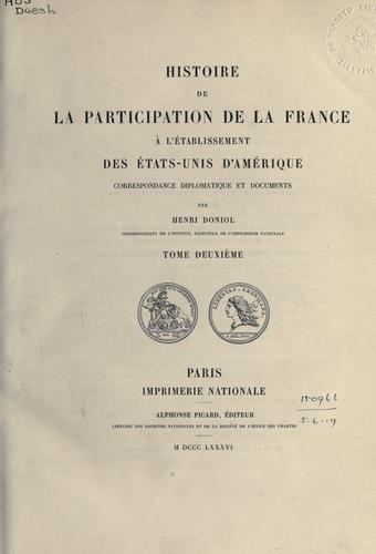 Download Histoire de la participation de la France à l'établissement des États-Unis d'Amérique