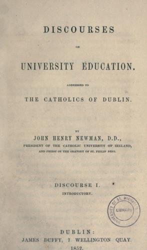 Download Discourses on university education