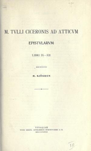 Ad Atticum epistularum
