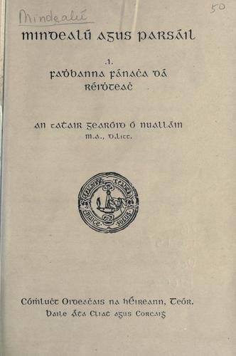 Mindealú agus parsáil =