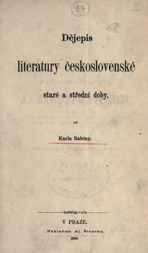 Djepis literatury eskoslovenské staré a stední doby.