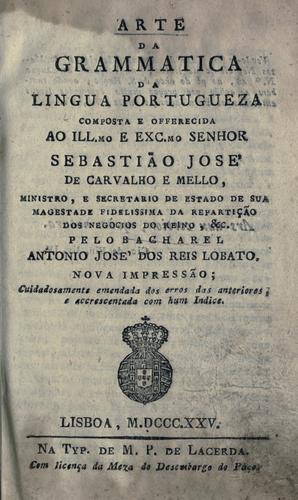Download Arte da grammatica da lingua portugueza