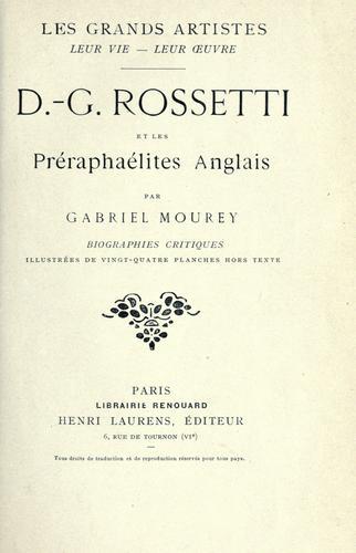D.-G. Rossetti et les Préraphaélites anglais