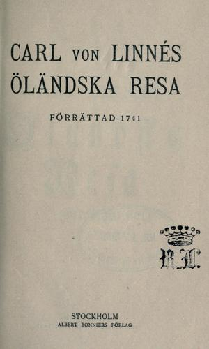 Download Carl von Linnés öländska resa