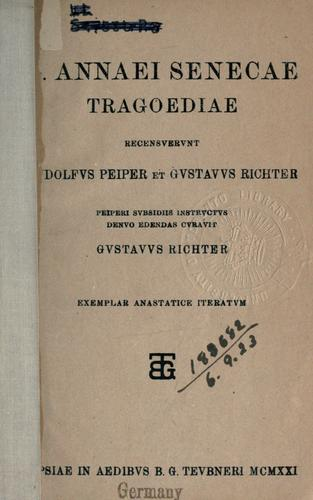 Tragoediae by Seneca the Younger