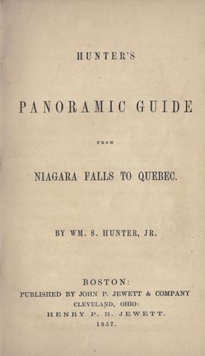 Download Hunter's panoramic guide from Niagara Falls to Quebec