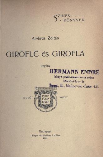 Giroflé és Girofla