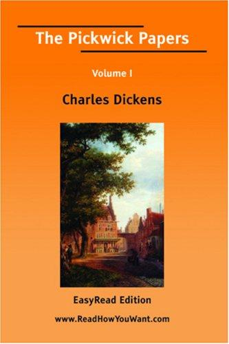 Download The Pickwick Papers Volume I EasyRead Edition