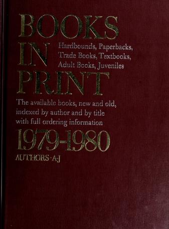 Cover of: Books in Print, 1979-1980 by R. R. Bowker