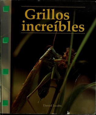 Cover of: Grillos increíbles | Jacobs, Daniel