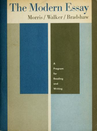 Cover of: The modern essay by Alton Chester Morris