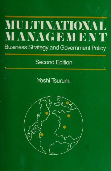 Cover of: Multinational management | Yoshi Tsurumi