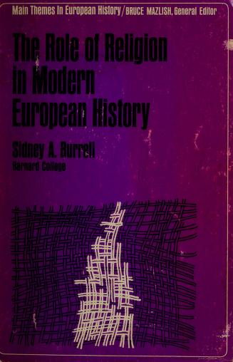 Cover of: The Role of religion in modern European history. -- | Burrell, Sidney Alexander