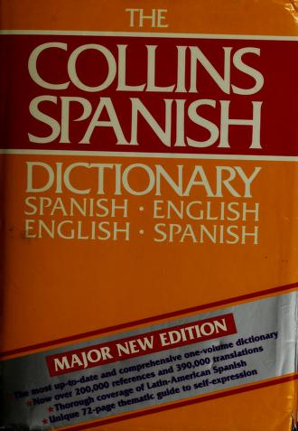 Cover of: Collins Spanish-English, English-Spanish dictionary by Smith, Colin