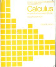 Cover of: Study and solutions guide to accompany Calculus | David E Heyd