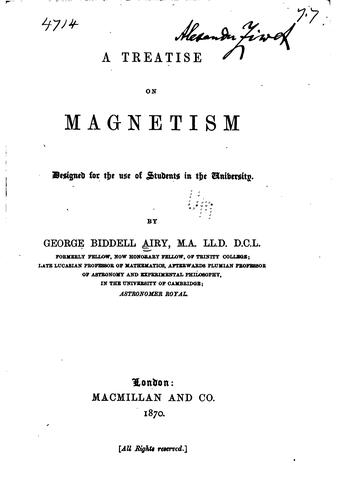 A Treatise on Magnetism by George Biddell Airy