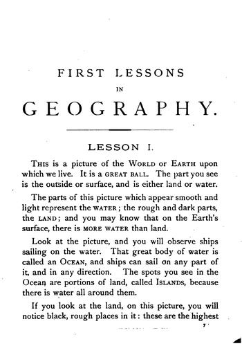 First Lessons in Geography: On the Plan of Object Teaching : Designed for Beginners by James Monteith