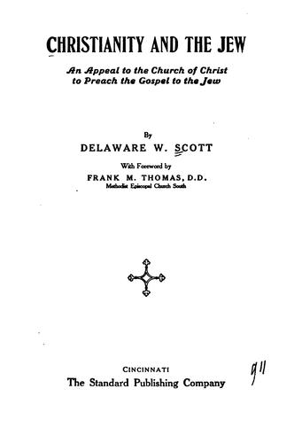 Christianity and the Jew by Delaware Walter Scott