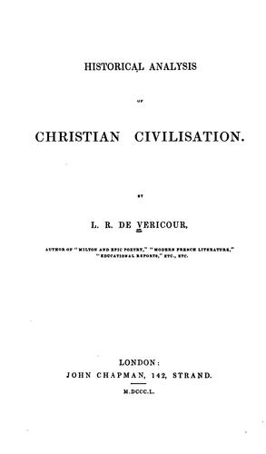 Historical Analysis of Christian Civilisation by Louis Raymond Véricour