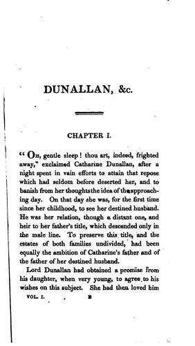 Dunallan; or, Know what you judge, by the author of The decision by Grace Kennedy