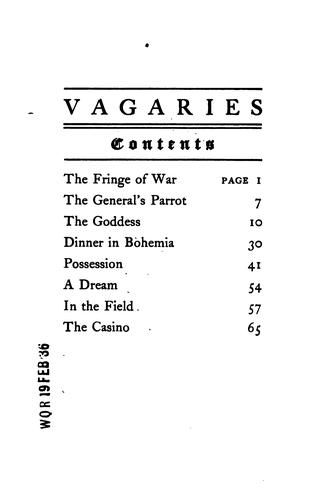 Vagaries by Florence Brooks Emerson