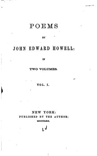 Poems by John Edward Howell