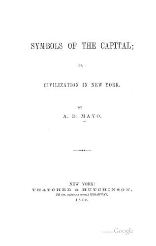 Symbols of the Capital by Amory Dwight Mayo