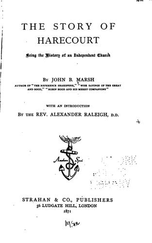 The Story of Harecourt by Marsh, John B.