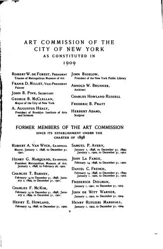 Catalogue of the Works of Art Belonging to the City of New York by Art Commission of the City of New York