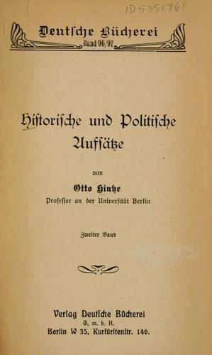 Historische und politische Aufsätze.