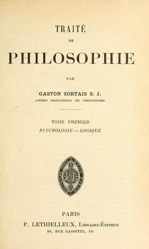 Traité de philosophie by Gaston Sortais