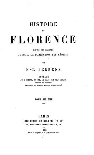 Histoire de Florence by François Tommy Perrens