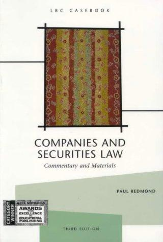 Companies and securities law by Paul Redmond
