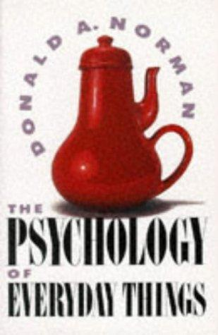 The psychology of everyday things by Donald A. Norman.