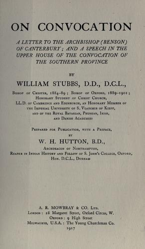 On convocation by William Stubbs